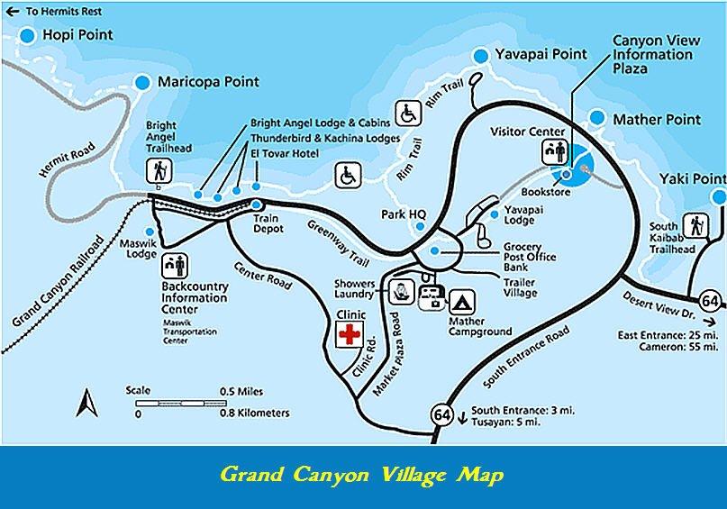 Grand Canyon Village Map
